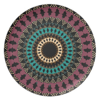 African Boho Collection - Midnight Flower Plate