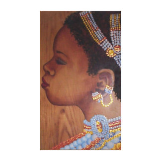 African Bride Wrapped Canvas
