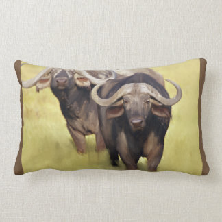 African Buffalo Lumbar Cushion