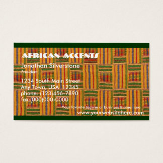 African Business Cards