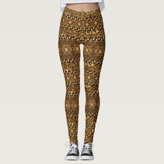 African cheetah skin pattern leggings