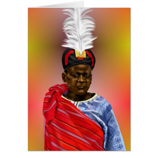 African Chief Card