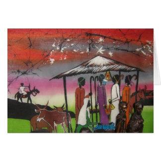 African Christmas Nativity Scene Card