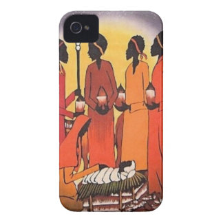 African Christmas Nativity Scene Case-Mate iPhone 4 Cases