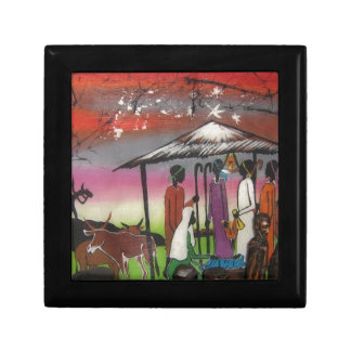African Christmas Nativity Scene Gift Box