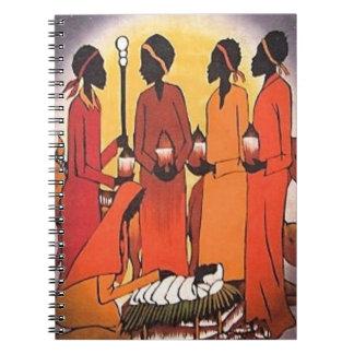 African Christmas Nativity Scene Notebook