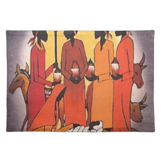 African Christmas Nativity Scene Placemat