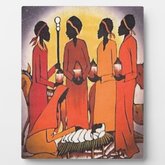 African Christmas Nativity Scene Plaque