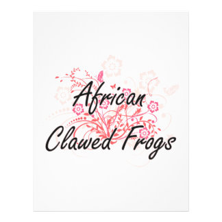 African Clawed Frogs with flowers background 21.5 Cm X 28 Cm Flyer