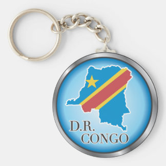 African country buttons key ring
