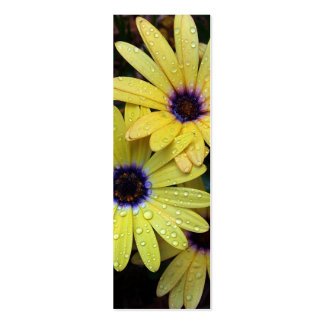 African Daisy Bookmark Business Card Template