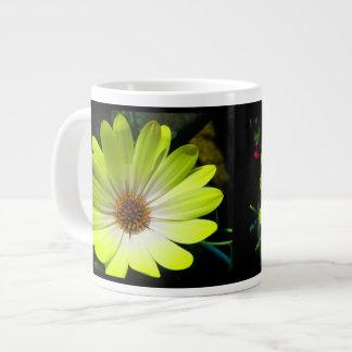 African Daisy Fluorescent Yellow Mug Jumbo Mug