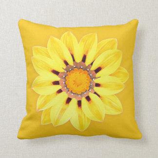 African Daisy / Gazania - Mustard Gold Cushion