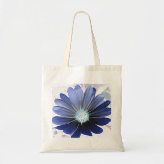 African Daisy Glowing Blue Budget Tote Bag