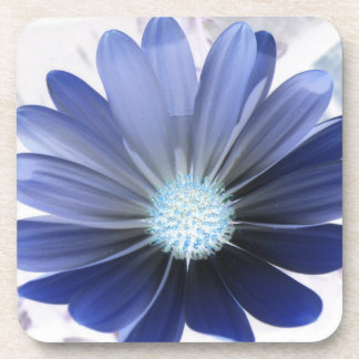 African Daisy Glowing Blue Cork Coaster