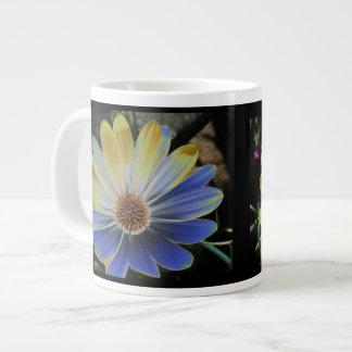 African Daisy Lapis and Gold Mug Jumbo Mug