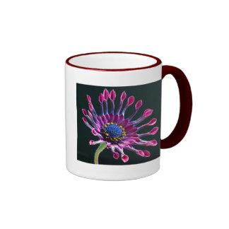 African Daisy's 15oz Ringer Mug