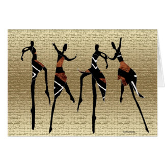 African Dance Group1 Card