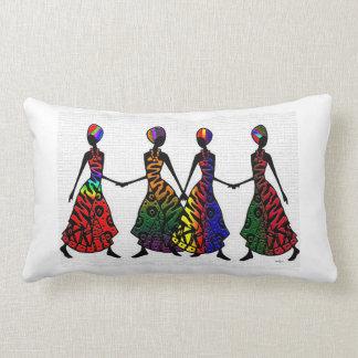 African Dance Of Sisterhood Lumbar Pillow