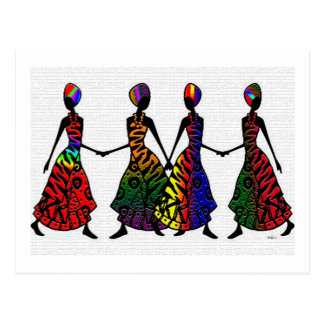 African Dance Of Sisterhood Postcard