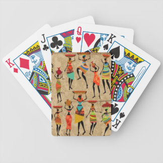 African Dancing Ladies Bicycle Playing Cards