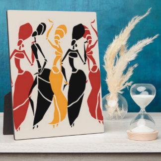 African Dancing Ladies Plaque