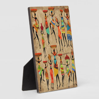 African Dancing Ladies Plaque