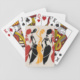 African Dancing Ladies Playing Cards