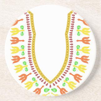 African Dashiki Boubou Necklace - Warm Coasters