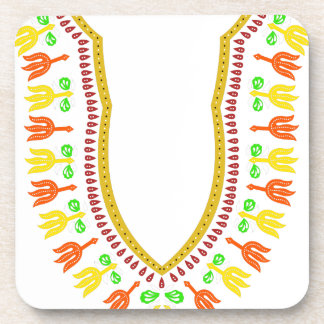 African Dashiki Boubou Necklace - Warm Drink Coasters