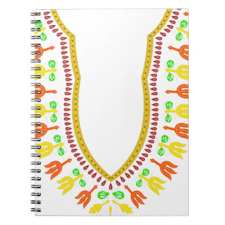 African Dashiki Boubou Necklace - Warm Notebooks