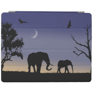 African dawn - elephants iPad cover
