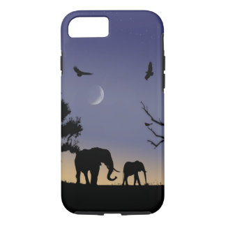 African dawn - elephants iPhone 8/7 case