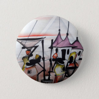 African Decor and Wear 6 Cm Round Badge