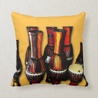 African Drums Throw Pillow