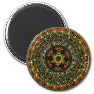 African Dusk Mandala fridge magnet