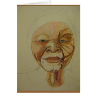 African Elder Woman Greeting card