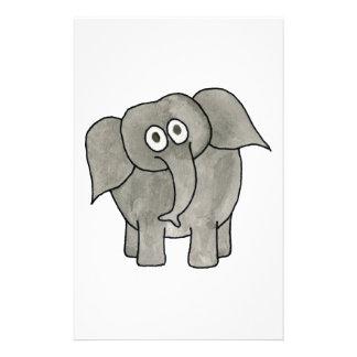 African Elephant. 14 Cm X 21.5 Cm Flyer