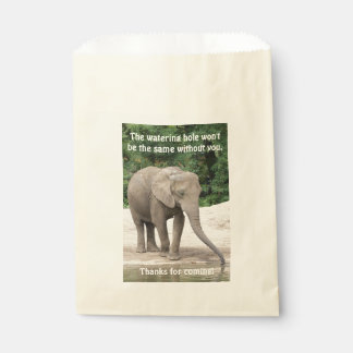 African Elephant at a Watering Hole Favour Bags