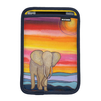 African Elephant at Sunset iPad Mini Sleeve