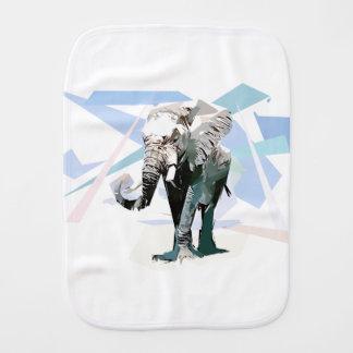 African elephant baby burp cloths