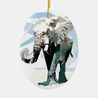 African elephant ceramic ornament