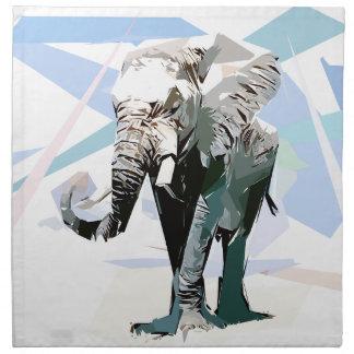 African elephant cloth napkins