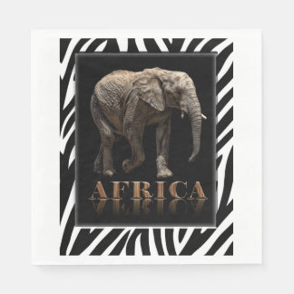 AFRICAN ELEPHANT DISPOSABLE SERVIETTE