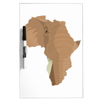 African Elephant Dry Erase Boards