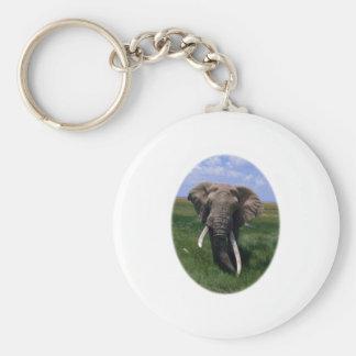 African Elephant Key Chain