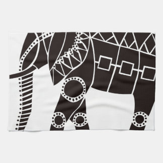 African Elephant Kitchen Towel