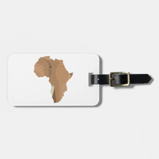 African Elephant Luggage Tag