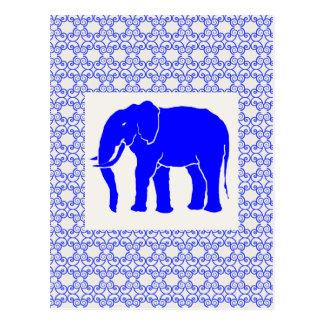 African Elephant on Ivory Ground Ornamental Postcard