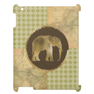 African Elephant on Map and Argyle Case For The iPad